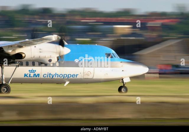 KLM Cityhopper Fokker 50 - Stock Image