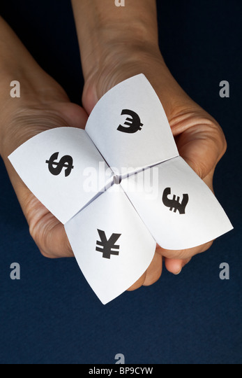 Paper Fortune Teller,concept of business decision - Stock Image