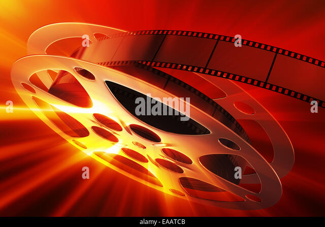 Film reel with magic light - Stock-Bilder