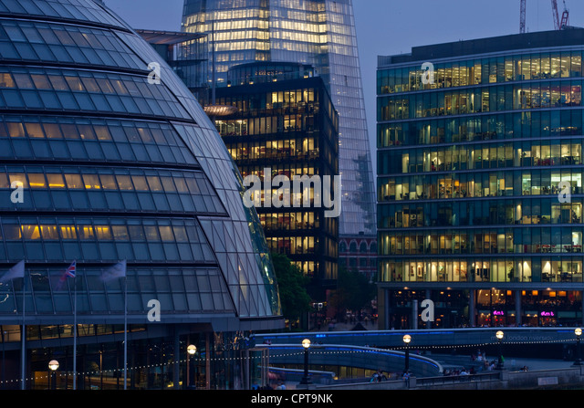 Modern Architecture, London, England - Stock Image