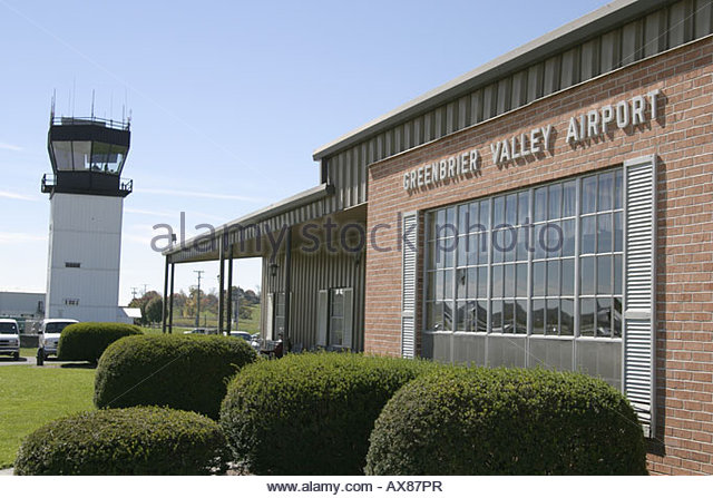West Virginia Greenbrier Valley Airport control tower - Stock Image