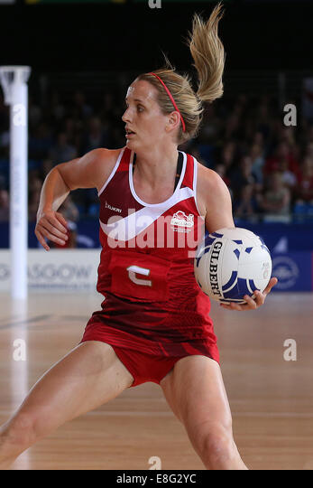 Sara Bayman (ENG) in action  - Netball - SECC - Glasgow Scotland, UK -  250714 - Glasgow 2014 Commonwealth Games - Stock Image