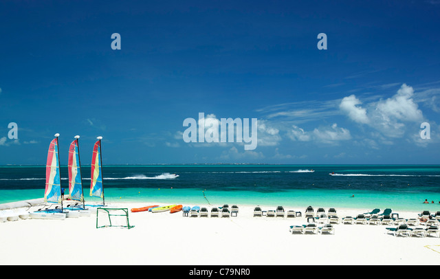 Cancun beach Mexico - Stock Image