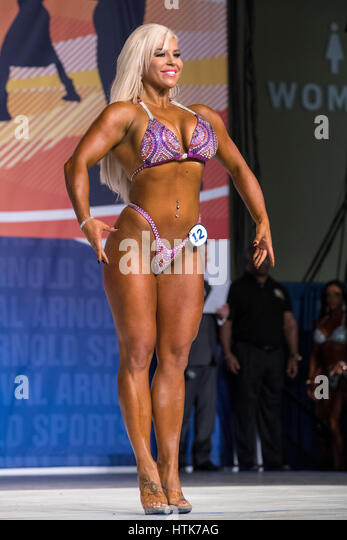 March 3rd 2017, Columbus, OH, USA; Ashley Sebera (12), also known as WWE Superstar Dana Brooke, competes in Fitness - Stock-Bilder