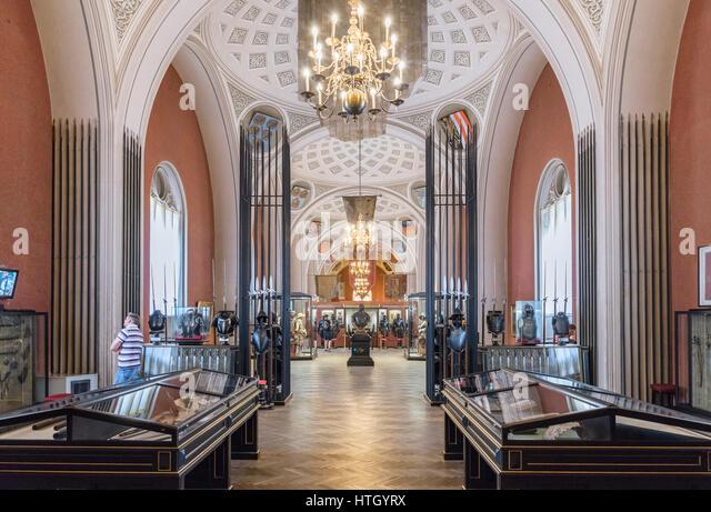 Gallery in the Museum of Military History ( Heeresgeschichtliches Museum ), Vienna, Austria - Stock Image