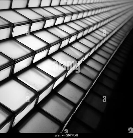 Illuminated steps in Tokyo - Stock-Bilder