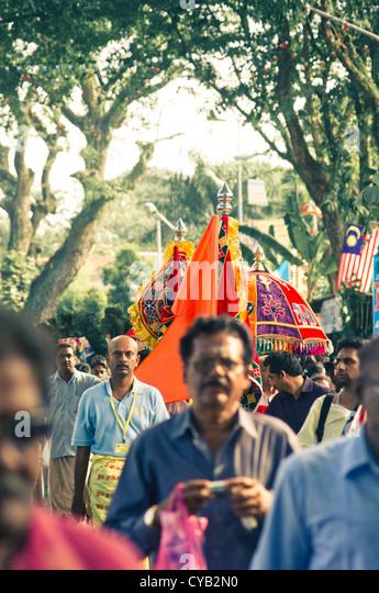 Thaipusam festival, celebrations of hindus in Penang, Malaysia 2011. - Stock-Bilder