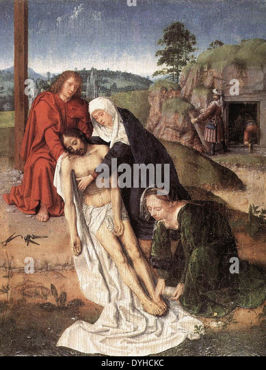 Gerard David Lamentation - Stock Image