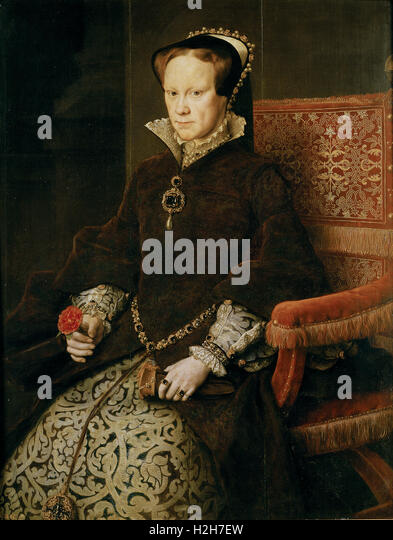 Queen Mary Tudor of England - Stock Image