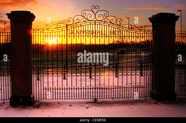 The Grappenhall Heys Gates, luxury, South Warrington homes and houses in a Cheshire set gated community, England - Stock Image