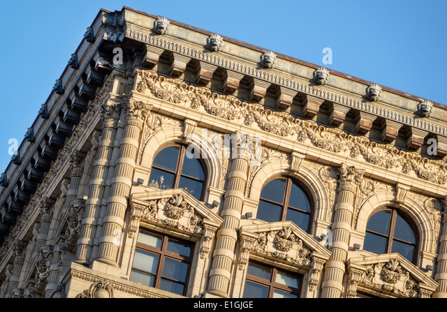 Los Angeles California CA L.A. Downtown Historic Core Spring Street The Continental Building Braly Block Beaux Arts - Stock Image