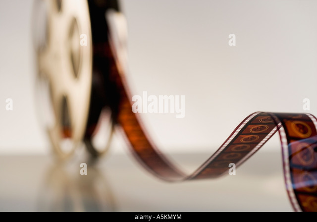 Close up of reel of movie film - Stock-Bilder