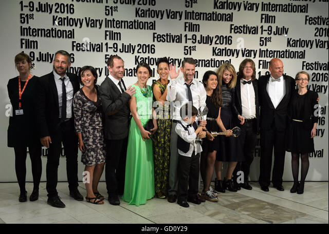 Karlovy Vary, Czech Republic. 09th July, 2016. The main prize of the Karlovy Vary International Film Festival, Crystal - Stock-Bilder