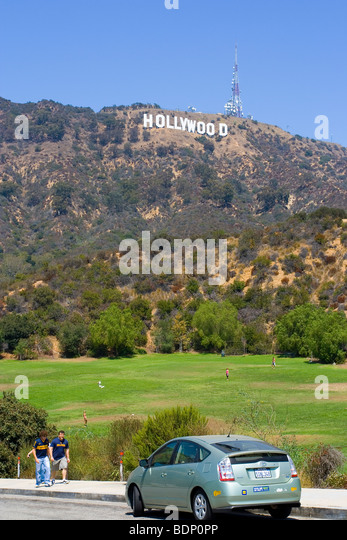 Hollywood Hill - Stock Image