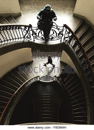 People In Staircase - Stock-Bilder