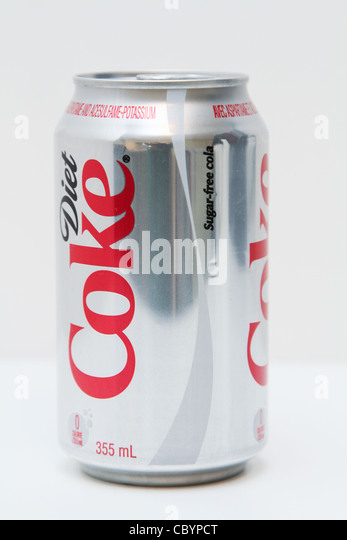 diet coke coca cola can soft drink - Stock Image