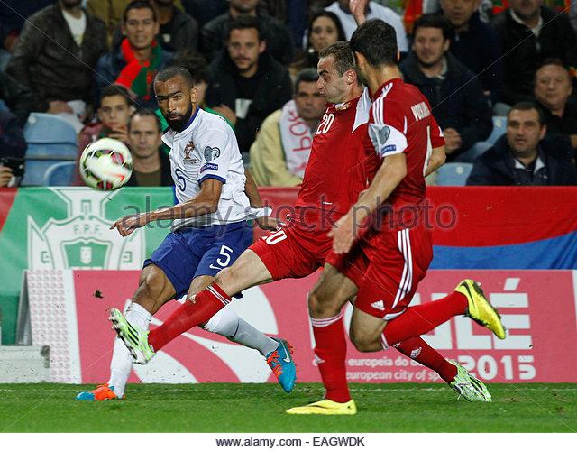 Algarve, Portugal. 14th November, 2014. PORTUGAL, Faro: Portugal's defender José Bosingwa during the UEFA - Stock Image