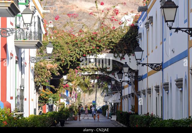 Puerto de Mogán, Puerto de Mogan, Gran Canaria, Canary Islands - Stock Image