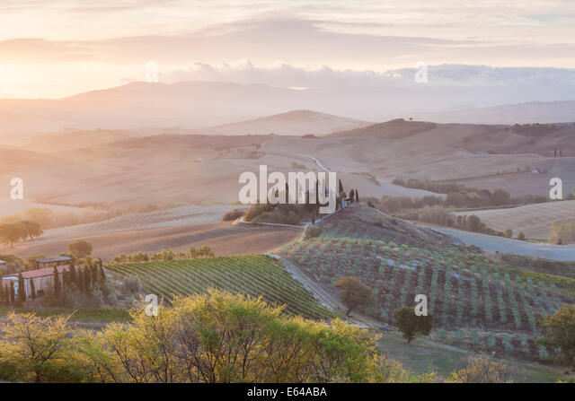 Val d'Orcia, Tuscany, Italy - Stock Image