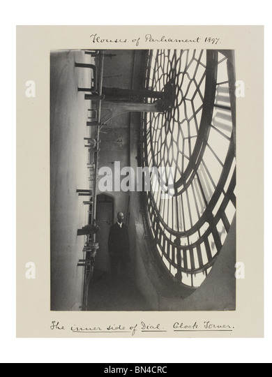 The Inner Side of Dial, photo Benjamin Stone. London, England, 1897 - Stock Image