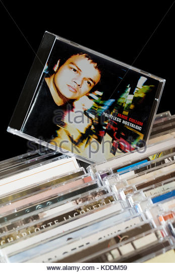 Pointless Nostalgic, Jamie Cullum CD pulled out from among rows of other CD's, Dorset, England - Stock Image