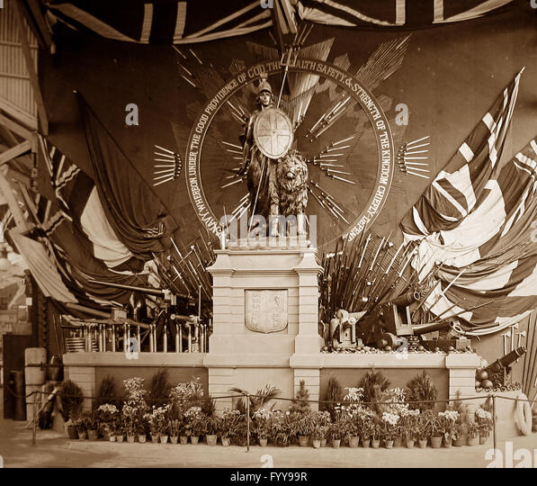 Royal Naval Exhibition 1891 - The Trophy - Stock Image