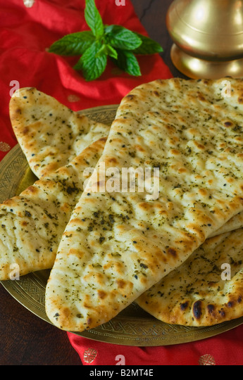 Naan bread Asia Food - Stock Image