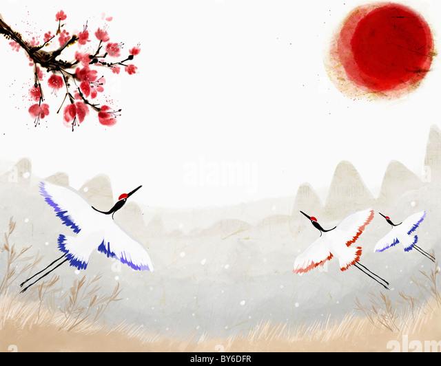 2013 lunar year illustration oriental mood - Stock-Bilder