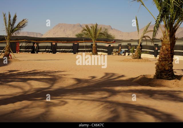 Camping at Wadi Rum, Jordan - Stock Image