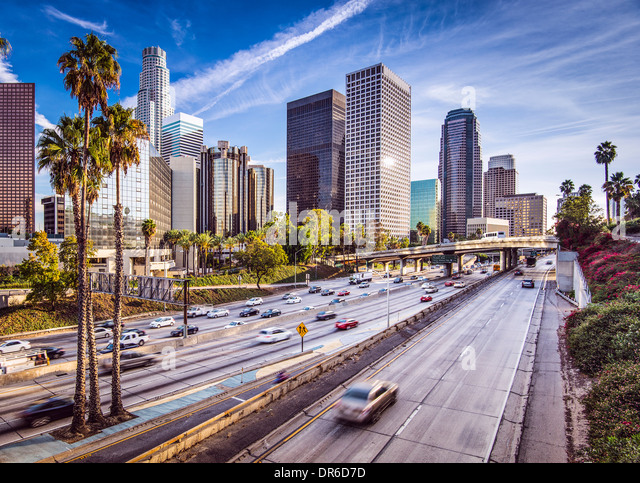 Los Angeles, California, USA downtown cityscape. - Stock-Bilder