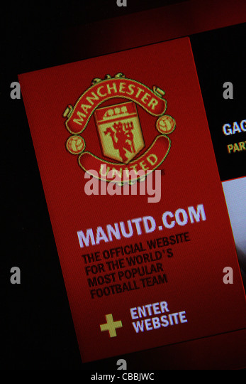 manutd.com website - Stock Image