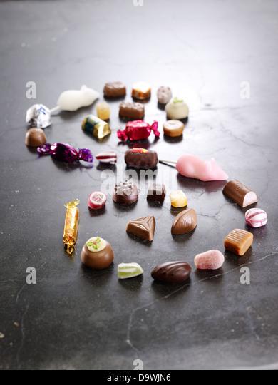 candies - Stock Image