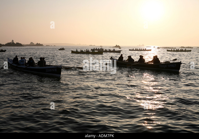 Gig Racing, Isles of Scilly, England, UK - Stock Image