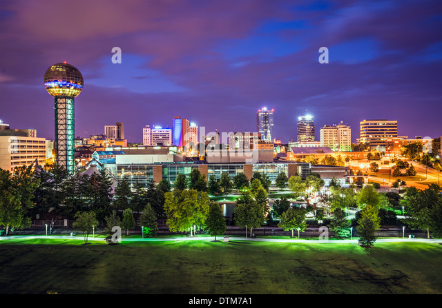 Knoxville, Tennessee, USA downtown at World's Fair Park. - Stock Image