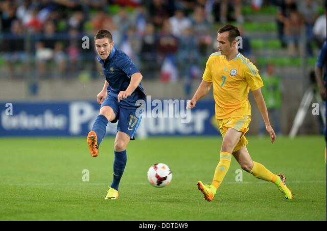 05.09.2013. stade Michel d Ornano, Caen, France. U-21 European football qualifications France versus Kazakhstan. - Stock Image