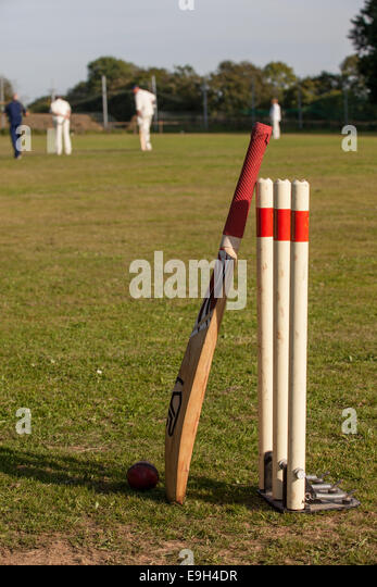 Cricket Bat And Ball Illustration Stock Photos & Cricket ...