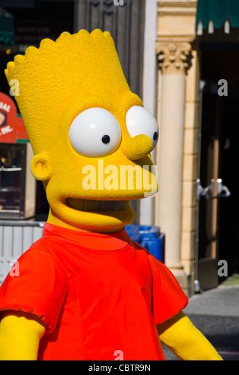 Bart Simpson character at Universal Studios Orlando Florida - Stock Image