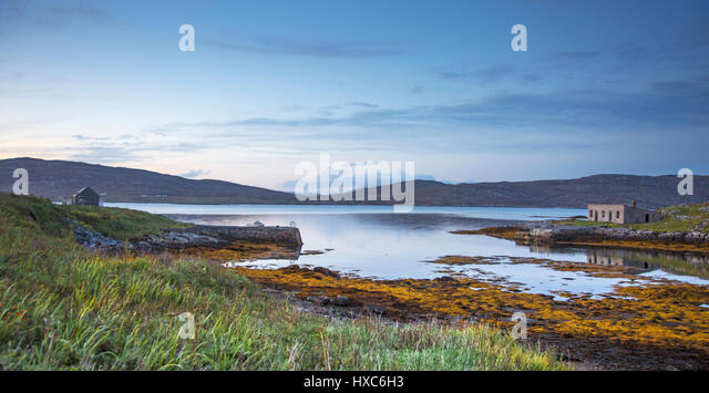 Tranquil lake view, Eriskay, Outer Hebrides - Stock Image