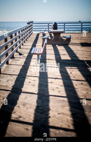 ShadowsOnThePier7128   - Stock Image