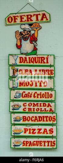 Cafe Vinales Menu