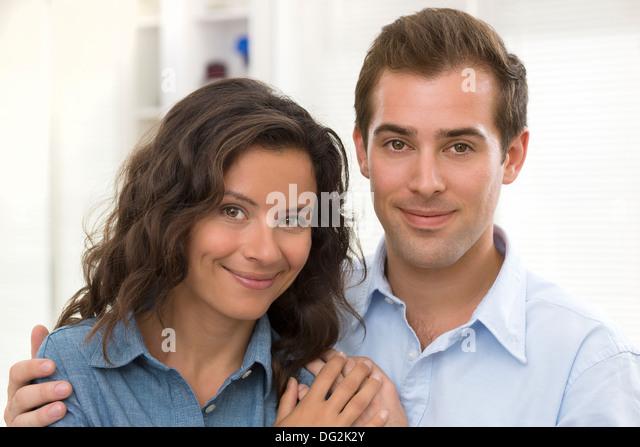 Woman man indoor - Stock Image