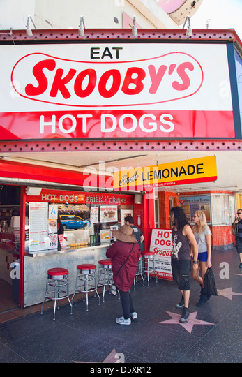 Hot Dog Stands In Hollywood