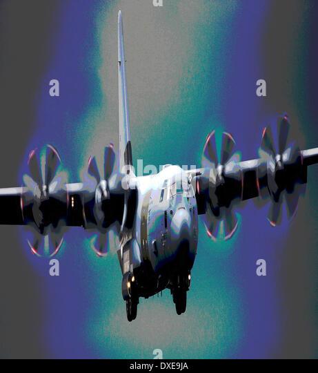 Abstract art: RAF Lockheed C130 Hercules - Stock Image