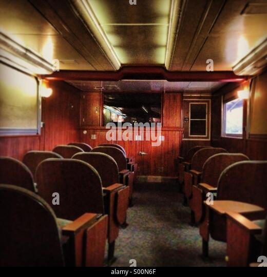 Theater on Pullman Car on Amtrak train - Stock Image