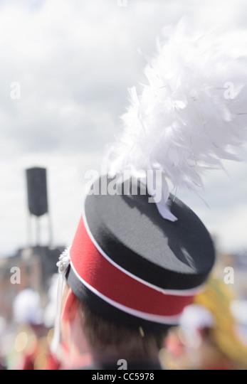 Marching Band Member in Rose Festival Parade - Stock-Bilder