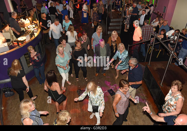 Northern Soul disco dance reunion of 1960s Mods Terry Heath's Reunion 2016 Pic by Dave Bagnall - Stock Image