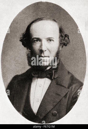 Herbert Spencer, 1820 – 1903.   English philosopher, biologist, anthropologist, sociologist, and prominent classical - Stock Image