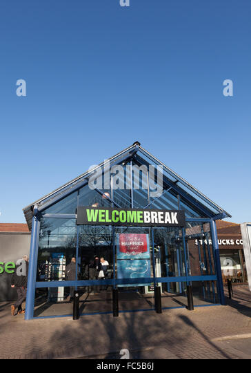 Warwick Welcome Break services on the M40 - Stock Image