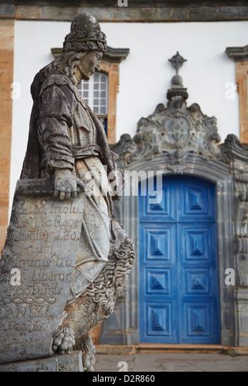 The Prophets sculpture by Aleijadinho at Sanctuary of Bom Jesus de Matosinhos, Congonhas, Minas Gerais, Brazil - Stock Image