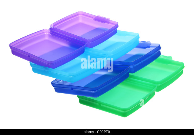 Plastic Containers - Stock Image